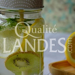 Mason Jar Kiwi de l'Adour, citron et menthe