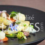 Recette d'Asperge des Sables des Landes IGP, menestra de petits légumes et rouget grondin