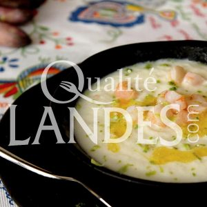 Recette de Gaspacho d'Asperge des Sables des Landes IGP, crevettes et citron vert