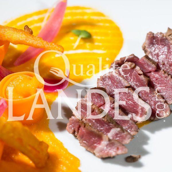 Recette de Filet de Boeuf de Chalosse mariné à l'asiatique, déclinaison de carottes des Landes en 3 façons