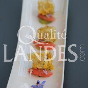 Recette de Foies gras de Canard Fermier des Landes en tempura