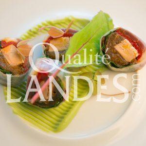 Recette de Foie gras et magret de Canard Fermier des Landes en rouleaux de printemps