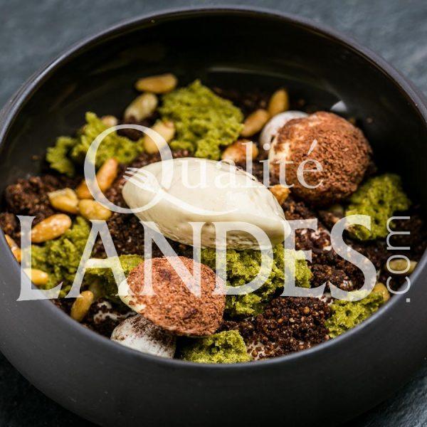 Recette de Dessert au Floc de Gascogne et à la sève de pin