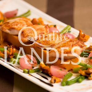 Recette de Filets de Cailles Fermières des Landes servis rosés