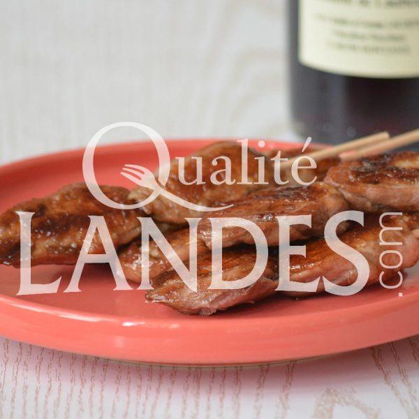Recette de Minis brochettes de filets de Cailles Fermières des Landes au Floc de Gascogne