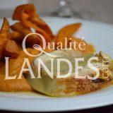 Recette de Poulet Fermier des Landes farci au foie gras de Canard Fermier des Landes et mousseline de patate douce montée au foie gras de Canard Fermier des Landes
