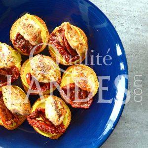 Recette de Tapas de filets de Cailles Fermières des Landes, tomates confites et moutarde
