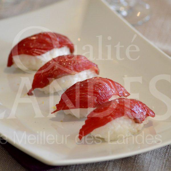 7B219-Sushi de Boeuf de Chalosse © Qualité Landes - Chef Nicolas Fort (1)
