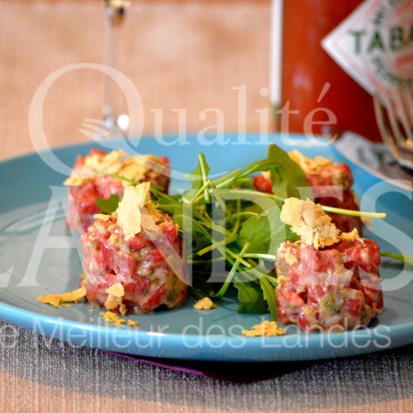 7B221-Tartare de Boeuf de Chalosse au foie gras © Qualité Landes - Chef Nicolas Fort (1)