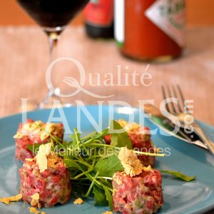 7B222-Tartare de Boeuf de Chalosse au foie gras © Qualité Landes - Chef Nicolas Fort (2)