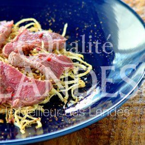 7B223-Tataki de boeuf de chalosse au céleri frit © Qualité Landes (1)