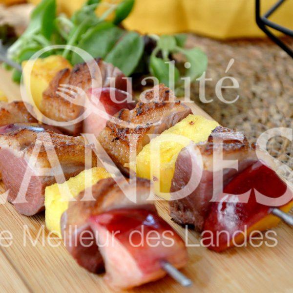 7B406-Brochette de magret de canard fermier aux fruits d'été ©Qualité Landes (2)