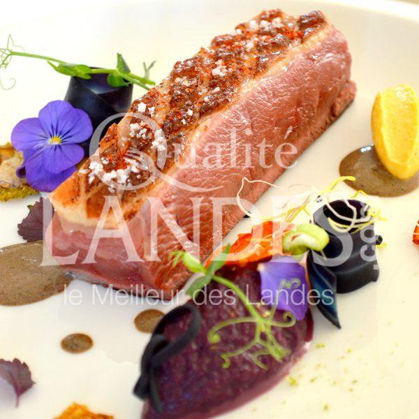 7B412-Magret de canard fermier des Landes façon Sébastien Piniello © Qualité Landes - Chef Sébastien Piniello (2)