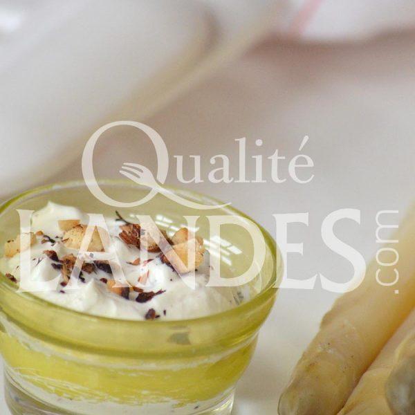 Recette d'Asperge des Sables des Landes IGP et sauce à la noisette torréfiée