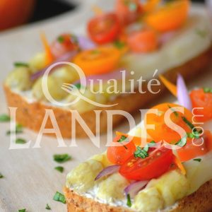 Recette de Tartine d'Asperge des Sables des Landes IGP au saumon