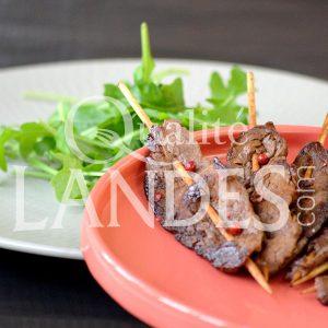 Recette de Brochettes de Boeuf de Chalosse mariné à la sauce soja