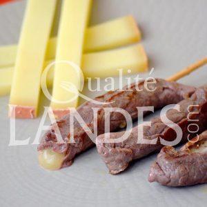 Recette de Yakitori au Boeuf de Chalosse et fromage