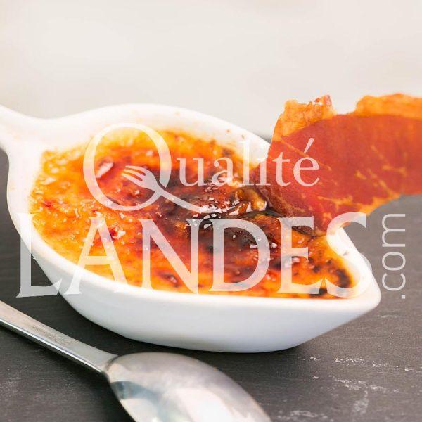Recette de Crème brûlée au foie gras de Canard Fermier des Landes