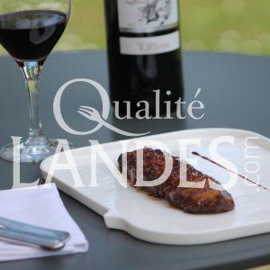 Recette de Magret de Canard Fermier des Landes laqué à la pâte de coing et vinaigre balsamique