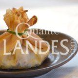 Recette d'Aumônière de Poulet Fermier des Landes, foie gras de Canard Fermier des Landes, abricots secs et noix de cajou