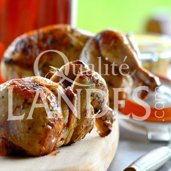 Recette de Cailles Fermières des Landes au foie gras de Canard Fermier des Landes et à l'Armagnac