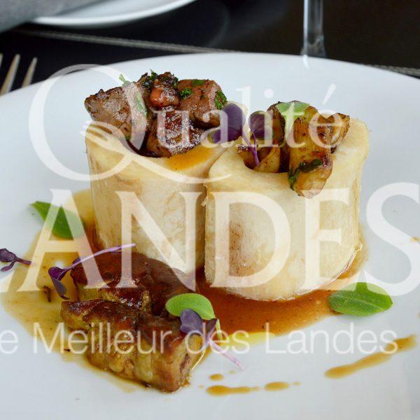 7B214-Os à moelle au Boeuf de Chalosse et foie gras©Qualité Landes - Chef Armando Nogeira la Villa Mirasol (2)