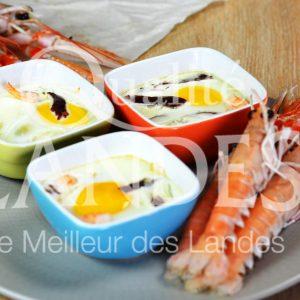 7B421-Oeuf cocotte magret séché langoustine © Qualité Landes (1)